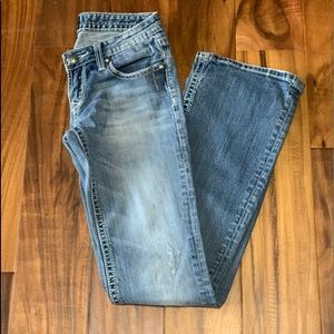 Express ReRock Distressed Jeans